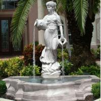 Wholesale Stone carving statue fountain white marble sculpture water fountains ,stone carving supplier from china suppliers