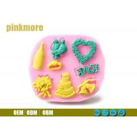 Bird Ring Heart Shaped Silicone Cake Moulds , Fondant Molds For Wedding Cakes
