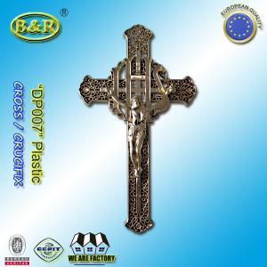 China Plastic Golden Color Funeral Cross and Crucifix DP007 30cm*17cm plasticos crucifijos y cristos wholesale