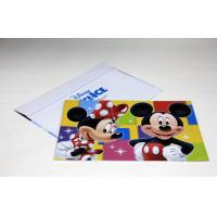 Wholesale Large Format Custom Postcard Printing Services , Disney Printing 4C+PMS/0C from china suppliers