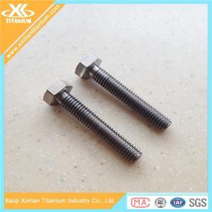 Full thread Gr5 titanium hex head bolts