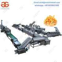 Buy cheap Full-automatic Frozen French Fries Processing Line/Factory Frozen French Fries from wholesalers