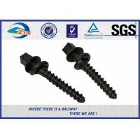 Buy cheap ISO SGS inspected  Q235 35# 45# Railway Sleeper Spikes  Black Oxide Screws from wholesalers