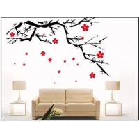 Wholesale Milk White Plum Blossom Nature Custom Wall Decals / Modern Wall Decals For Bed Room Decotation from china suppliers
