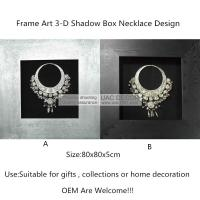 China Silver Nacklace 3D Shadow Box UA5748 Wall Art Decoration wholesale