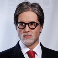 China Amitabh Bachchan Life Size Celebrity Wax Statues Fiberglass / Silicone Material wholesale