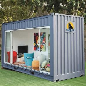 Buy cheap Galvanized Steel Frame Flat Pack Shipping Container Tiny Houses Coffee Shop from wholesalers