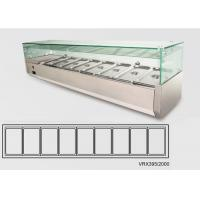 Wholesale 75L Stainless Steel Glass – Topped Chilled Display Unit For Salad from china suppliers