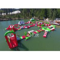 China 35x30m Giant Floating Island Inflatable Floating Water Park with 0.9mm Pvc Tarpaulin on sale