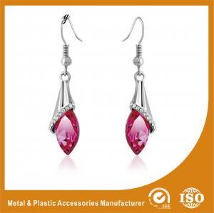Buy cheap Rhinestone / Pink Stone Long Earrings Nickel Free Lead Free 4.5cm from wholesalers