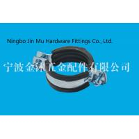 China Pipe Brackets Clamps With Rubber And White Zinc Handle , 87 mm - 91 mm Clamp  Size on sale