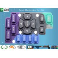Wholesale Purple Blue Black Silicone  Keypad Carbon Pill Conductive Contact Color Key Print from china suppliers
