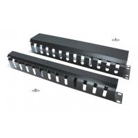"""Wholesale 19"""" Metal Cable Management Rail 12 Slot,Single-Sided,1U&2U with cover from china suppliers"""