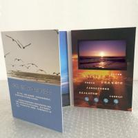 Wholesale 1024*600 HD IPS Video In Print Brochure , Custom Greeting Card With Video Screen from china suppliers
