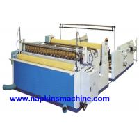 China Nonwoven Paper Roll / Jumbo Roll Slitting Machine To Rewind And Slit Toilet Paper wholesale
