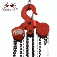 China 20 Ton Manual Lifting Chain Pulley Block Heavy Weight Lifting Tool 3m-12m HSZ-CA on sale