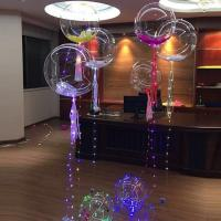 2018 new christmas new decoration 18 transparent bobo helium balloon with led contact supplier