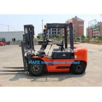 3T Capacity Diesel Engine Forklift Truck With Soft Bag Clamp / 3 Stage 6m Container Mast