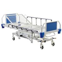 China 4 Function Hydraulic Medical Patient Bed With Aluminum Alloy Side Rails wholesale