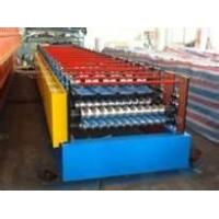 Wholesale 22KW Hydraulic Cutting type Guiding Column K-span roof roll forming machine machinery from china suppliers