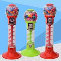Wholesale PC / ABS Metal Material 1 Player Spiral Gumball Machine For Shopping Mall from china suppliers