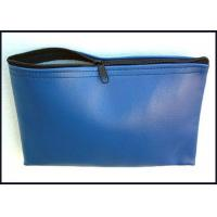 Wholesale Blue Colors PU leather 11'' X 5'' Bank Deposit bags with printing Logo on center from china suppliers