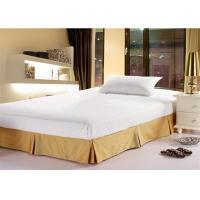Wholesale Fashion Hotel Bed Skirts Light Yellow With 100% Polyester King Size from china suppliers