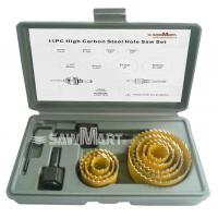 Wholesale Carbon Hole Saw Set with Mandrel (11-Piece) from china suppliers