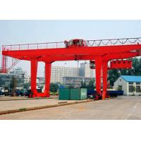 Wholesale PLC Automatic Control Industrial Gantry Crane , Rail Mounted Container RMG Outdoor Gantry Crane from china suppliers