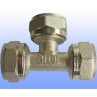 compression brass fitting equal tee for PEX-AL-PEX