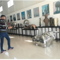 Wholesale Colorful painted stainless steel statue sculptures ,customized art statue,Stainless steel sculpture supplier from china suppliers