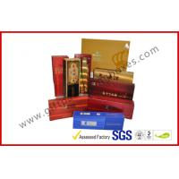 Wholesale Rectangle Handmade Rigid Board Cigar Gift Boxes , Custom 157g Coated Paper E Cigar Packages from china suppliers