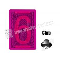 Magic Props Silver Paper Invisible Playing Cards , Gambling Cheat Marked Poker Cards