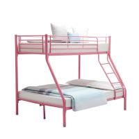 China Children Double Bunk Metal Pipe Bed Customizable With School Dormitory on sale
