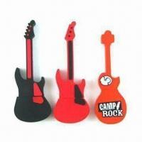 Wholesale Guitar USB Flash Drives with 10-year Data Retention, Shock and Moisture-resistant Features from china suppliers