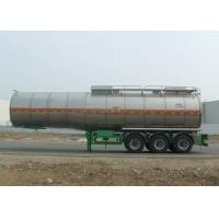 Wholesale Insulated Aluminum Tanker Semi Trailer , Chemical Tank Trailer 40000L from china suppliers