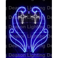 Buy cheap street pole mounted christmas decoration motif from wholesalers