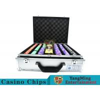 Wholesale Stripe Suited Casino Poker Chip Set , 12g Poker Chip Sets With Denominations from china suppliers