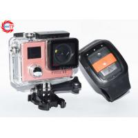 LED Camcorder Action Camera With Remote , Rose Gold Waterproof DV Camera