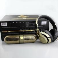BEATS BY DR DRE GOLD STUDIO WIRELESS HEADPHONES & PILL 2.0 LIMITED EDITION NEW