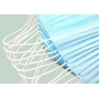 Buy cheap Meltblown Medical 3 Layer Disposable Face Mask Non - Woven Mask Blue from wholesalers