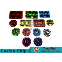 Wholesale 12g Bright Color Crystal Acrylic Poker Chips High Wear Resistance from china suppliers