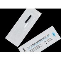 Wholesale White 0.18mm 14U Blades Microbalding Needles For Eyebrow Tattoo Manual Pen from china suppliers