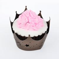 China Eco Friendly Unique Design Paper Cupcake Wrappers Oval Shaped Wedding Decoration wholesale