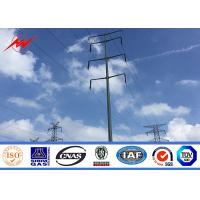 Buy cheap 25FT 40FT Transimission power octagonal galvanized steel pole for power transmission from wholesalers