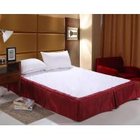 Wholesale Easy Fit Bed Skirt Double Size , White Ruffle Bed Skirt For Spa from china suppliers