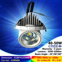Wholesale 40W 45W 50W recessed spotlight 3000K/4000K ceiling light AC85-265V use in shop light from china suppliers