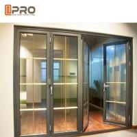 Horizontal Aluminum Folding Doors For Kitchen With Double Tempered Glass