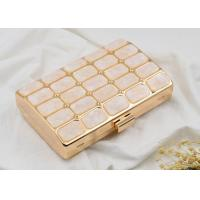 Rose Acrylic Stone Shell Evening Clutch Box HandBag Shining Customized Logo