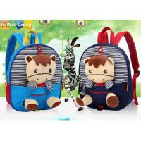 Wholesale Double Root Dark Blue Sky Blue Baby Backpack Bag Cartoon Animal from china suppliers